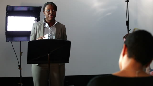 Student presents to tutor video