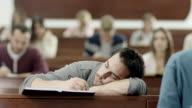 Student Sleeping in Classroom video