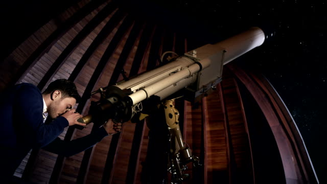 Student with telescope video