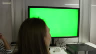 Students Around Screen Collaborating On Project Shot On R3D video