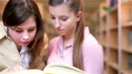 Students at the library video