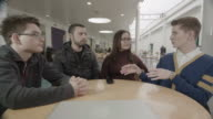 Students Chat in Canteen video