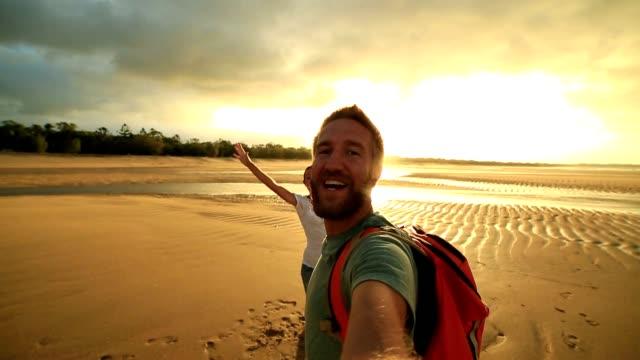 Students in Australia take selfie portrait video