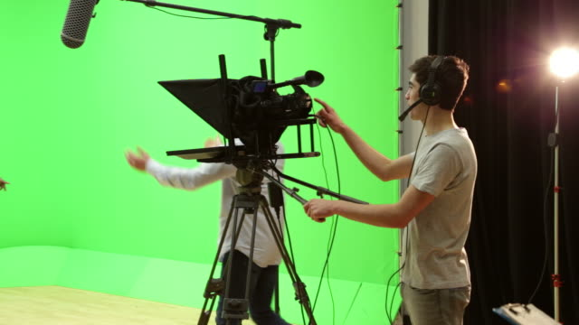 Students On Media Broadcasting Course In TV Studio video