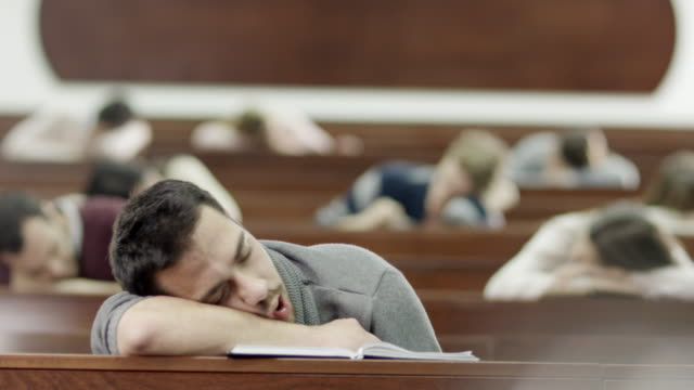 Students Sleeping in Classroom video