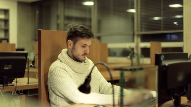 Students Studying in a Library video