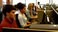 Students using computers video