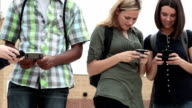 Students using phones video