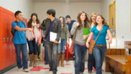 Students walk through hallway video