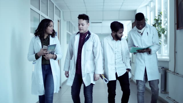 Students walking in medical college video