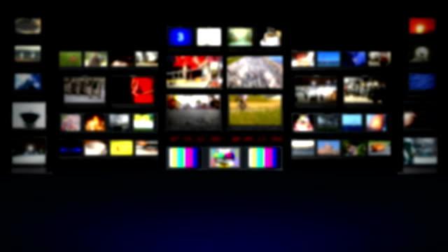HD - TV studio. Blurred background video