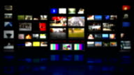 HD - TV studio. Blurred background with reflection video