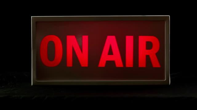 Studio On Air sign, TV & Radio station Live light video