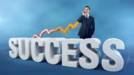 Studio shot of a successful businessman video