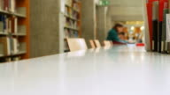 Studying In Library (Selective Focus) video
