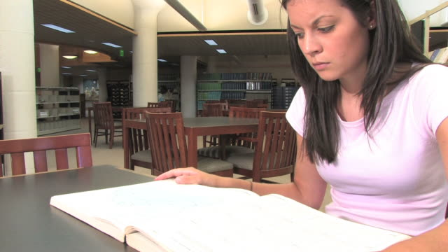 Studying in the Library (HD) video