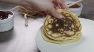 Stuffing Pancakes Timelapse 4K video
