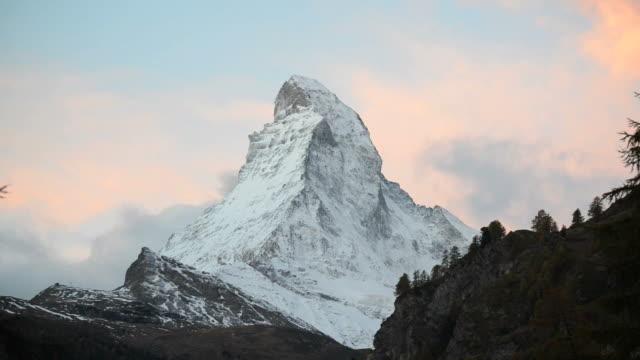 Stunning View Of Matterhorn In Swiss Alps video