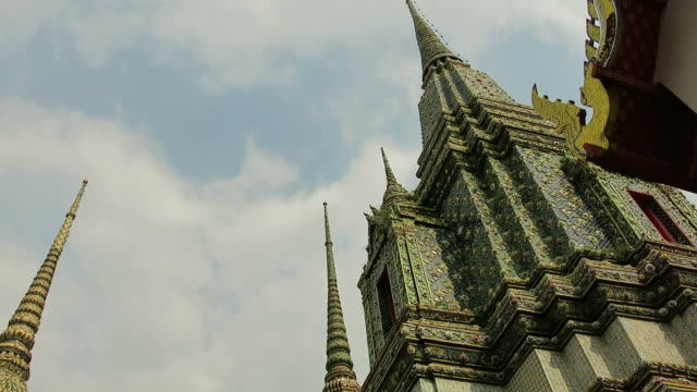 Stupas in the Wat Pho (Temple of the Reclining Buddha) video