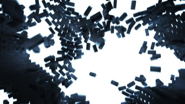 Stylised brickwall explosion video