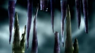 Stylised Evil Icicles with Luma Matte video