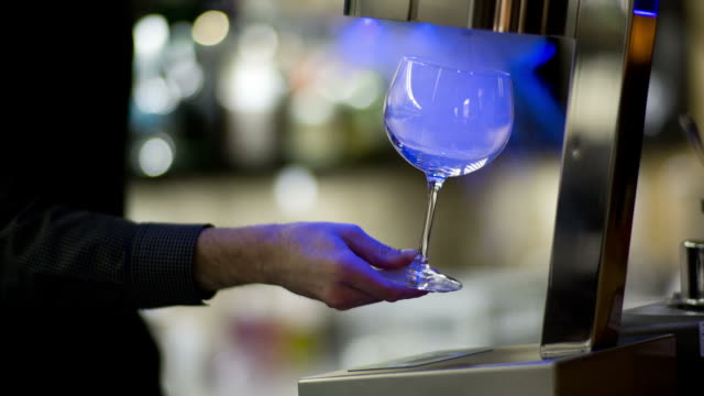 Stylish cocktail bar man video