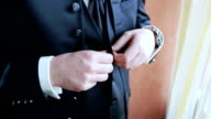 stylish man dress shirt, suit and vest video