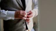 Stylish man dress vest. video
