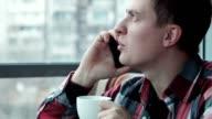 Stylish man take call video