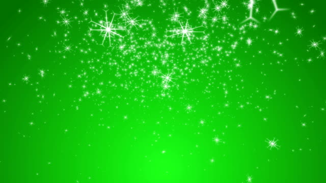 Stylistic Snowflakes with Green Background video