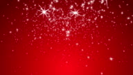 Stylistic Snowflakes with Red Background video