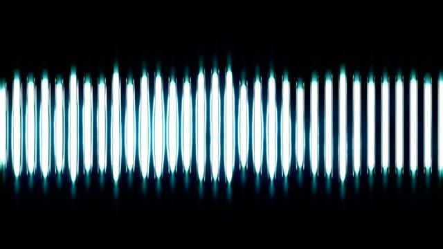 stylized audio waves video