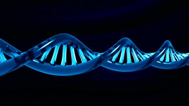 Stylized glass DNA molecule (Loop + Alpha) video