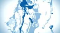Stylized Splashes of Blue Liquid video