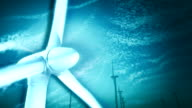 Stylized Windmill with Swirling Wind video