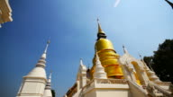 Suan Dok Buddhist Temple in Chiang Mai Thailand video