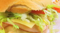 Sub Sandwich Close Up HD video