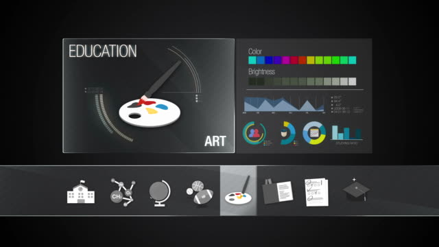 ART subject for Education contents.Digital display application. video