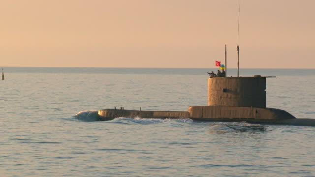 submarine on the high seas video
