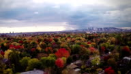 Suburban Autumn View of Montreal and beautiful Trees video