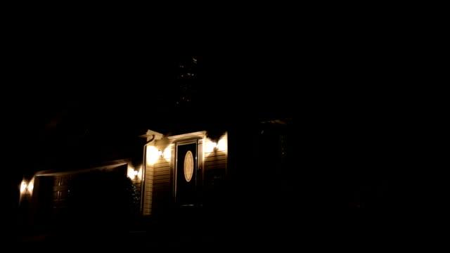 Suburban Home.  Night video
