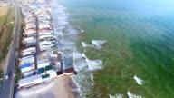 Suburban road close to sea coast in Odessa, Ukraine video