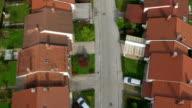 AERIAL: Suburban street video
