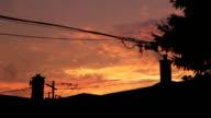 Suburban sunset. Timelapse. video