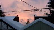 Suburban Sunset. Winter. video
