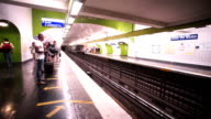 Subway, Metro in Paris, France video