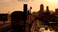 Subway Panoramic View in Queens New York City video