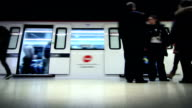 Subway station. Time lapse. Locked. Loopable. video