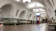 Subway station timelapse video