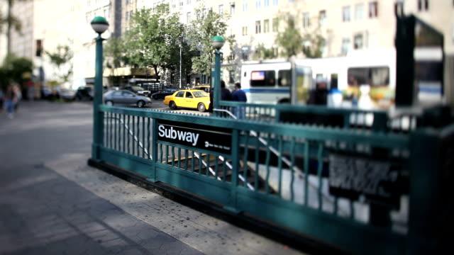 Subway street station (Tilt Shift Lens) video